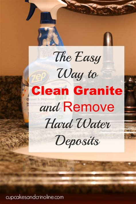 how to clean granite countertops and remove water
