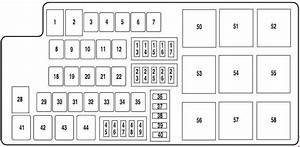Ford Mustang  2010 - 2014  - Fuse Box Diagram