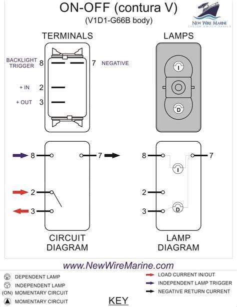 blower illuminated rocker switch contura v backlit new wire marine