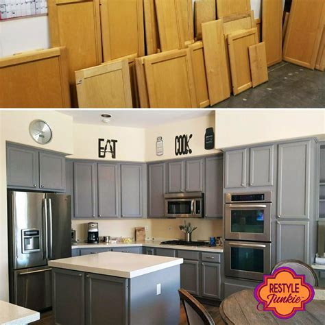Kitchen Color Ideas With Oak Cabinets - custom mixed gray kitchen cabinets general finishes design center