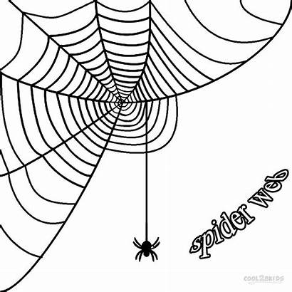 Spider Corner Coloring Halloween Drawing Template Graphics