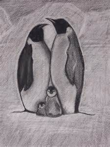 Penguin Family Drawing
