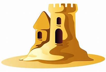 Sand Castle Clipart Clip Sandcastle Summer Transparent