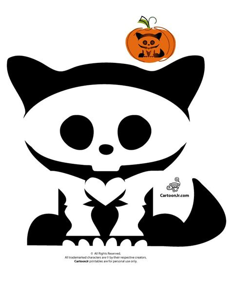 Skelanimals Pumpkin Templates Skelanimals Kitty Pumpkin