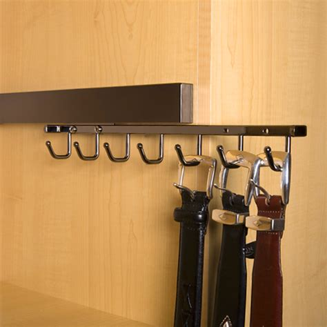 deluxe sliding belt rack black pearl in tie and belt racks