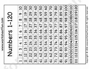 Number Chart 1 120 Printable Pdf Download