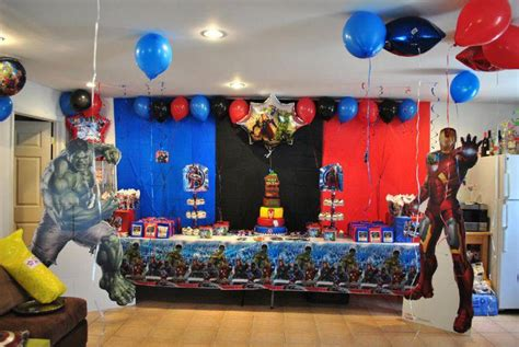 avengers theme party ideas  kids table decorating