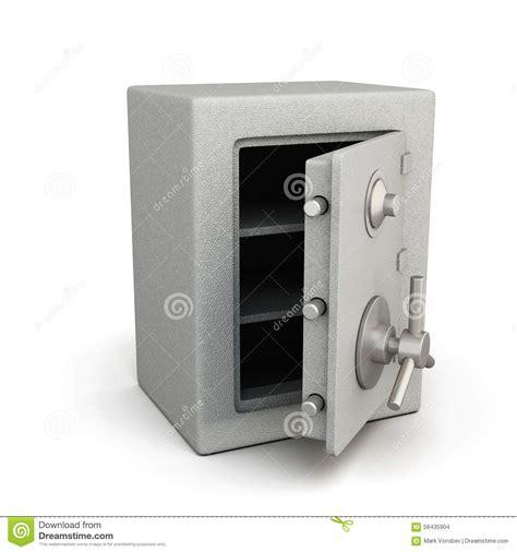 coffre fort la poste coffre fort avec la porte ouverte illustration stock image 58435904