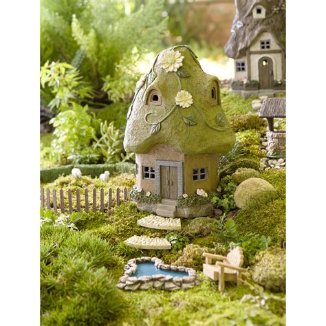 plow hearth miniature garden solar house