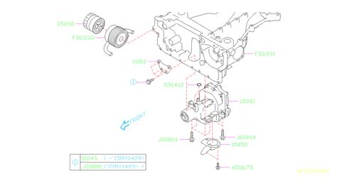 Subaru Outback Stiffener Engine Pump Oil