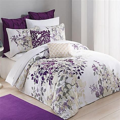 Buy Kas® Winchester Twin Duvet Cover In Purple From Bed