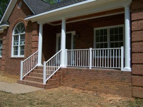metal porch railing porch and step rails