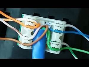 How To Wire And Punch Down Rj45 Jack For A Wall Plate