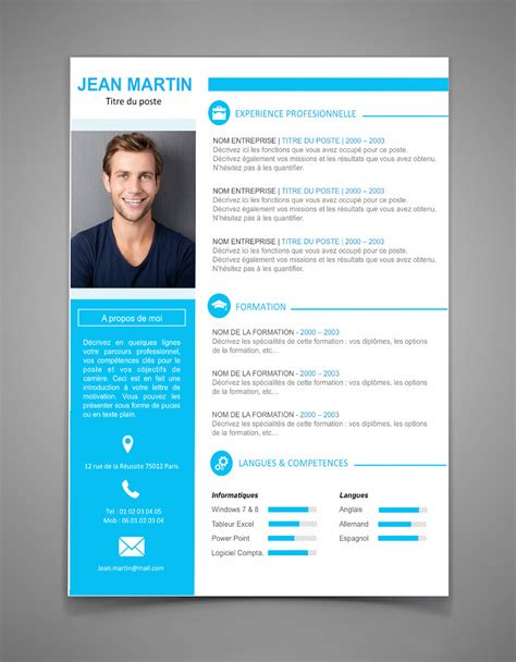 Comment Faire Un Cv En 2016 by Mise En Page Cv Word Gratuit Comment Faire Un Cv En 2016