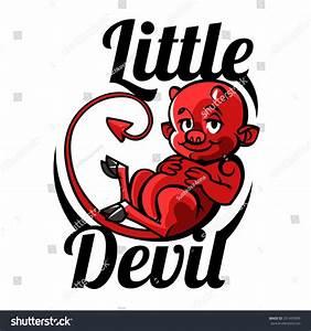 Cartoon Little Devil Imp Halloween Vector Stock Vector ...