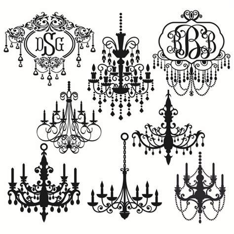 chandelier monogram cuttable frames