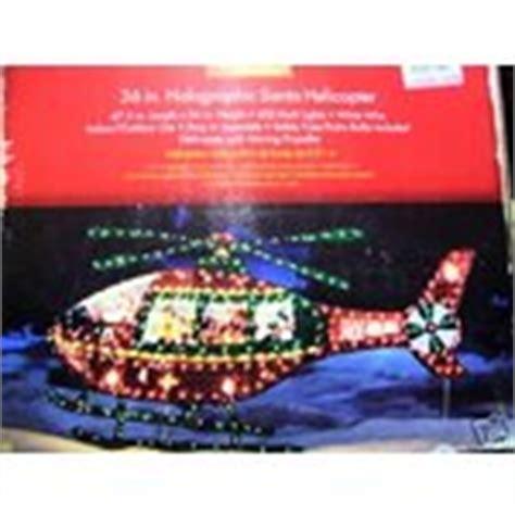 santa holographic helicopter christmas yard decoration
