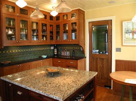 black countertops with golden oak cabinets kitchens