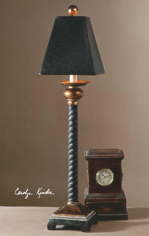 Uttermost Bellcord Black Buffet Lamp Ut29007