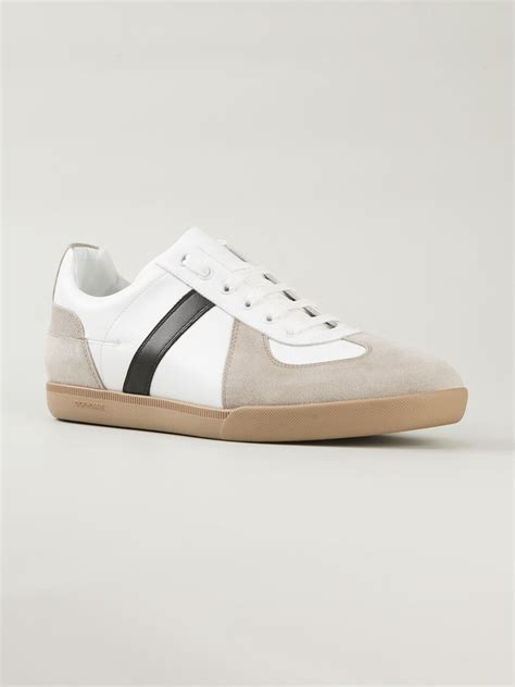 dior homme panelled sneakers  white natural  men lyst