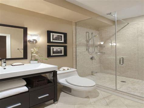 Attractive Modern Bathroom Design Ideas With Beige Wall