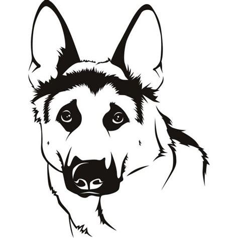 easy cartoon german shepherd front google search dogs