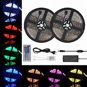 Led Lichtband Mit Batterie : led strip 5m streifen mit fernbedienung rgb led 5050 smd ~ Jslefanu.com Haus und Dekorationen