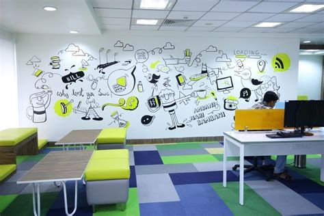office wall design ideas  increase  productivity
