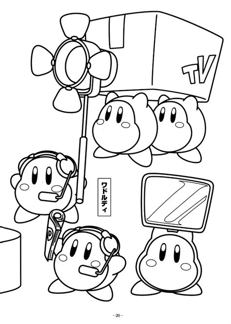 kirby fight coloring pages kids coloring pages