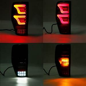 Led Car Tail Light With Bulbs Wiring Blcak Cover For Ford