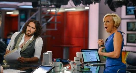 russell brand msnbc russell brand embarrasses unprofessional news anchors