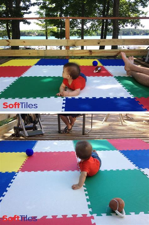 wooden outdoor create a temporary cushioned deck play area d135