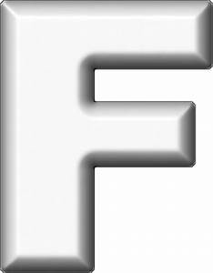 presentation alphabets white refrigerator magnet f With white letter magnets