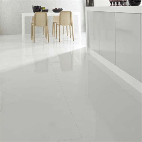 White Porcelain Tile by Crown Tiles 60x60cm Stark White Porcelain Crown Tiles