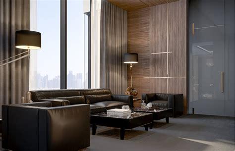 wood front doors modern luxury ceo office interior design jeddah saudi