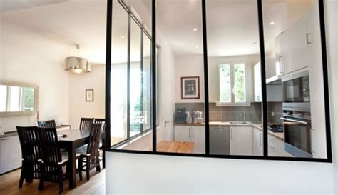 vitre separation cuisine cloison vitree pour cuisine fermee appartement