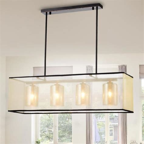 rubbed bronze kitchen island lighting shop warehouse of hokol bronze and fabric 4 light 8978