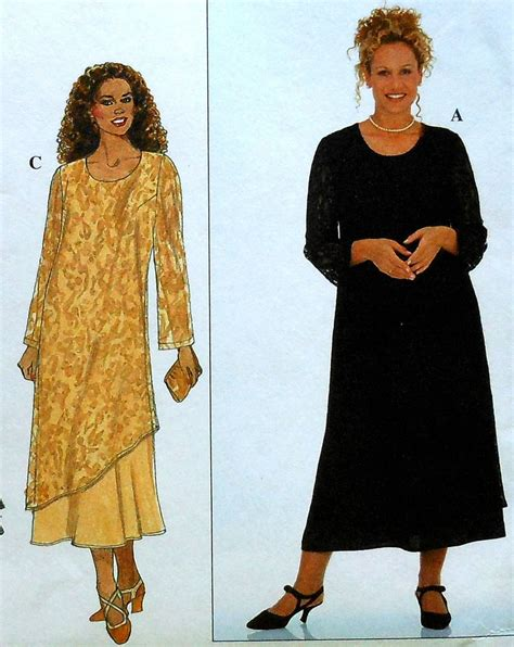 42466f599fd Plus Size Dress Sewing Pattern Uncut Simplicity 3383 Sizes