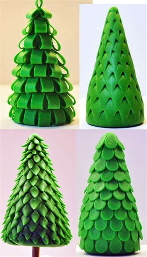 easy classy christmas tree from fondant cake cupcake toppers inspiration pine tree styles fondant fondant trees