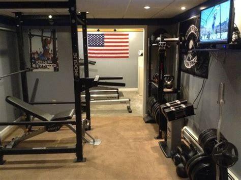 gym garage rogue setup gyms fitness room diy crossfit equipment basement workout goals rooms rack homemade dream equipped studio decor