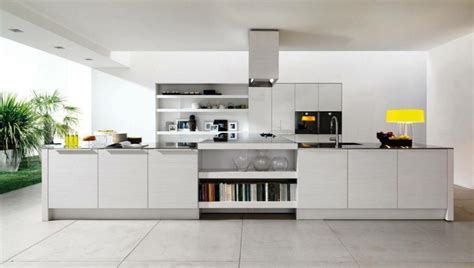 grande cuisine avec ilot central la cuisine blanche dans toute sa splendeur