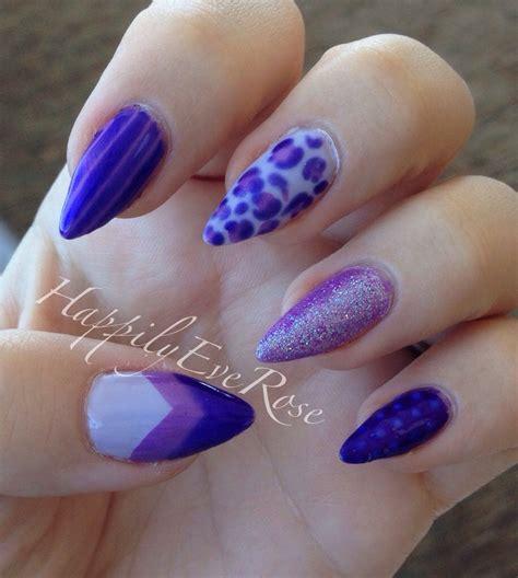 Purple Stiletto Nail Designs