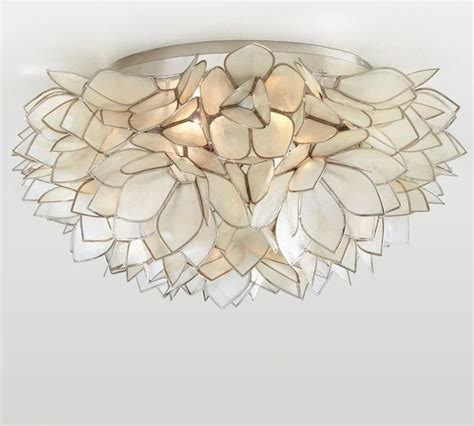 Pottery Barn Ceiling Mount Lights by Capiz Flush Mount Contemporary Flush Mount Ceiling