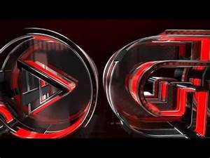 After Effects Template Construction Glass Neon Logo