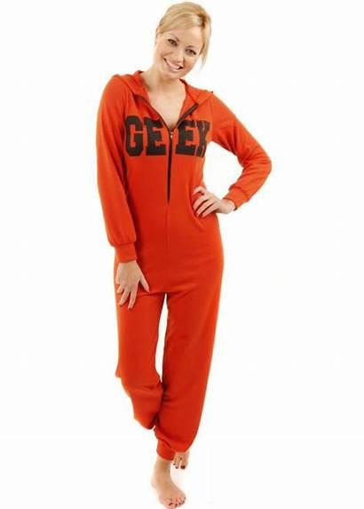 Onesie Orange Pyjama Onesies Designer Geek Lightweight