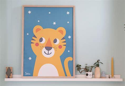 Drucke & Plakate  Tiger Poster  Nachtleuchtend Ein