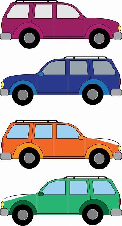 Cars Clipart Suv Vehicles Cartoon Vector Clip