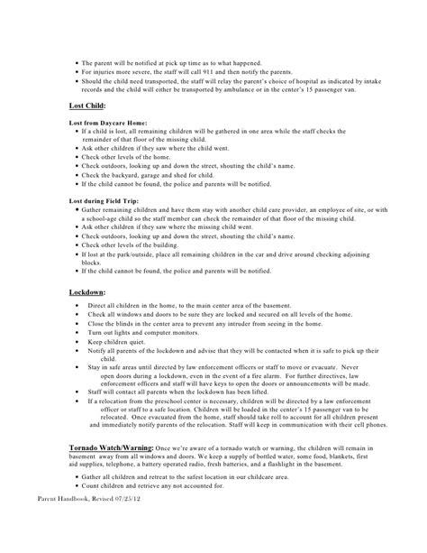 policy handbook preschool 434 | policy handbook preschool 22 728