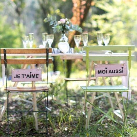 chaise mariage pancarte de chaise pour mariage quot je t 39 aime quot quot moi aussi