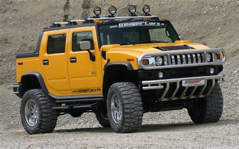 H2 Yellow Hummer Car Wallpaper